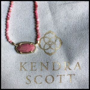 Kendra Scott Elisa Beaded Pendant in Rose Pink. 🆕